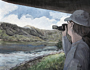 Country Scenes Painting Prints - View From the Lookout Print by Reb Frost