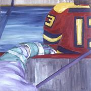 Hockey Paintings - View From The  Players Bench by Yack Hockey Art