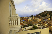 Dubrovnik Acrylic Prints - View From The Terrace - Taormina - Sicily Acrylic Print by Madeline Ellis