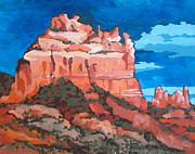 Sedona Painting Prints - View from Uptown Print by Sandy Tracey