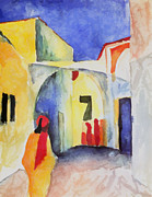 Macke Framed Prints - View into a lane Framed Print by Stefan Kuhn