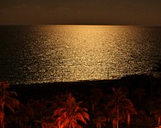 Sea Moon Full Moon Prints - View Me Full Screen II Print by Rene Triay Photography