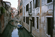 Facades Posters - View Of A Canal In A Quiet Residential Poster by Taylor S. Kennedy