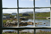 Window Panes Posters - View Of A Harbor Through Window Panes Poster by Pete Ryan