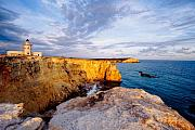 Faro Photos - View of a Lighthouse on a Cliff Cabo Rojo Puerto Rico by George Oze