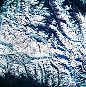 Square Art - View Of A Mountain Range From A Satellite by Stockbyte
