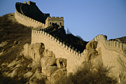 World Cultures Metal Prints - View Of A Section Of The Great Wall Metal Print by Michael S. Yamashita