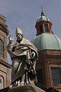 Bologna Photos - View Of A Statue At The Piazza Di Porta by Gina Martin