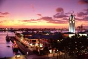 Layer Prints - View Of Aloha Tower Print by Carl Shaneff - Printscapes