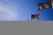 Patriots Prints - View Of American Flags Which Surround Print by Raul Touzon