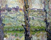 Orchard Painting Posters - View of Arles Poster by Vincent Van Gogh