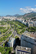 Road Travel Photo Prints - View Of Aterro Do Flamengo Print by Ruy Barbosa Pinto