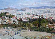 Acropolis Prints - View of Athens from Acropolis Print by Ylli Haruni