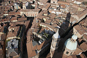 Bologna Photos - View Of Bologna From The Torre Degli by Gina Martin