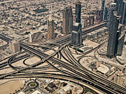 Road Travel Photo Prints - View Of Burj Khalifa Print by Luc V. de Zeeuw