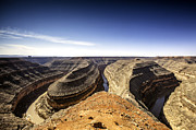 Goosenecks Prints - View Of Canyon And Winding River Print by Bob Stefko