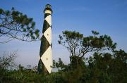 Nautical Structures Photos - View Of Cape Lookout Lighthouse by Stephen Alvarez