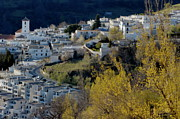 Village In Europe Posters - View of Capileira village in the Alpujarras Mountains in Andalusia Poster by Sami Sarkis
