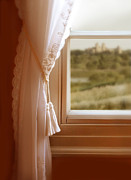 Window Sill Photo Posters - View of Castle Out Window Poster by Jill Battaglia