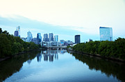 Liberty Place Framed Prints - View of Center City Philadelphia from the Schuylkill River Framed Print by Bill Cannon