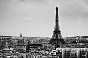 Black And White Paris Metal Prints - View Of City Metal Print by Sbk_20d Pictures