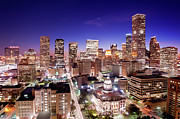 Houston Posters - View Of Cityscape Poster by jld3 Photography