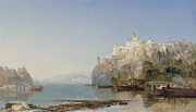 Bosphorus Prints - View of Constantinople on the Bosphorus Print by James Webb