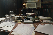 Darwin Photos - View Of Darwins Desk At Down House by Volker Steger