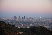 Griffith Park Prints - View Of Downtown Los Angeles From Griffith Park Print by Nivek Neslo