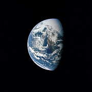 Outer Space Metal Prints - View Of Earth Taken From The Apollo 13 Metal Print by Stocktrek Images