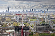Tower Crane Framed Prints - View Of East London Framed Print by James Burns
