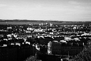 New Town Prints - View Of Edinburgh New Town Skyline Towards The Docks At Leith And Firth Of Forth From Calton Hill Ed Print by Joe Fox