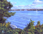 Green Bay Prints - View of Erie Print by Michael Camp