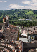 Rooftops Digital Art - View of Forli by Sharon Foster