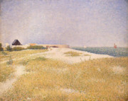 Georges Pierre Framed Prints - View of Fort Samson Framed Print by Georges Pierre Seurat