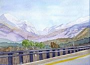 Franconia Notch Paintings - View of Franconia Notch by Sharon E Allen