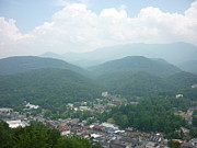 Gatlinburg Posters - View of Gatlinburg Tn. and surrounding mountains-1 Poster by Artie Wallace