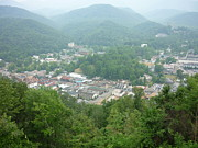 Gatlinburg Framed Prints - View of Gatlinburg Tn. and surrounding mountains-2 Framed Print by Artie Wallace