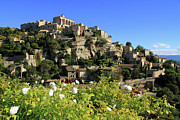 Townscape Framed Prints - View Of Gordes Framed Print by Boccalupo Photography