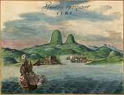New World Photos - View Of Havana, Cuba In 1639, Including by Everett