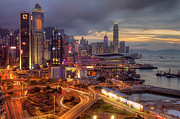 Hong Kong Tapestries Textiles - View Of Hong Kong by Marty Windle