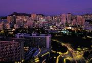 Urban Scene Art - View Of Honolulu, Hawaii by Richard Nowitz