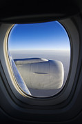 Air Travel Prints - View of Jet Engine from Plane Print by Jeremy Woodhouse