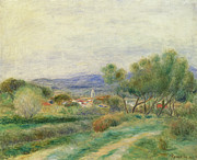 Farm Fields Paintings - View of La Seyne by Pierre Auguste Renoir