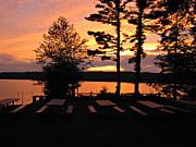View Of Lake Naomi Print by Addie Hocynec