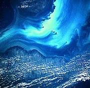 Progress Metal Prints - View Of Land And Sea From Space Metal Print by Stockbyte