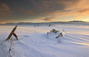 Winter Landscape Prints - View Of Landscape In Winte Print by Sigurbjorn