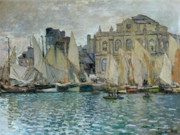 Boats On Water Framed Prints - View of Le Havre Framed Print by Claude Monet
