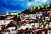 European City Mixed Media - View of Lisbon by Dariusz Gudowicz
