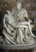 Religious Statues Prints - View Of Michelangelos Famous Sculpture Print by James L. Stanfield